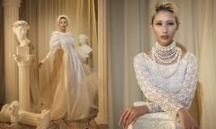 Hằng Nguyễn hóa cô dâu với áo dài cách điệu