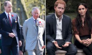 William và Charles động viên Harry sau khi Meghan sảy thai