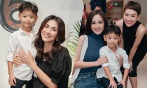 Tăng Thanh Hà, Mai Phương Thúy dự sinh nhật con trai Trà My