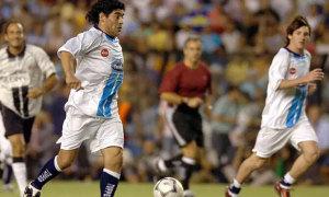 Maradona và Messi từng chơi bóng cùng nhau