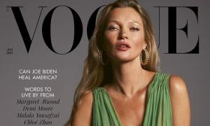 Kate Moss tái xuất bìa 'Vogue' Anh sau 27 năm