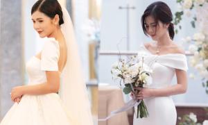 Vũ Thu Hoài gợi ý váy cưới tối giản