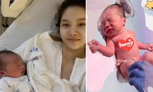 Kỳ Hân 'lên sóng' cùng con trai mới sinh