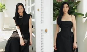 Mai Thanh Hà tôn dáng với váy đơn sắc