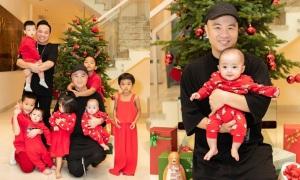 Đỗ Mạnh Cường cùng đàn con trang hoàng dịp Noel
