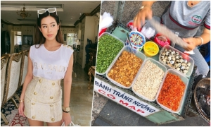 Xe bánh tráng nướng yêu thích của Tiên Nguyễn