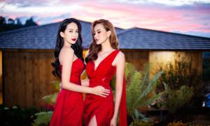 Khánh Ngân, Phương Quỳnh khoe dáng với váy dạ hội