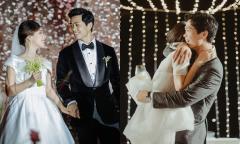 Công Phượng ôm chặt vợ trong đám cưới