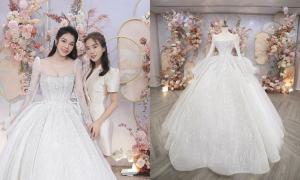 Váy cưới mưa sao băng Bùi Tiến Dũng tặng vợ