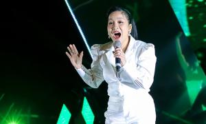 Mỹ Linh mặc 'cây' trắng hát đón năm mới