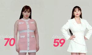 Park Bom khoe vóc dáng 59 kg