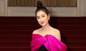 Diễn viên Quỳnh Lam khoe vai trần trên thảm đỏ
