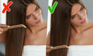 7 lỗi thường gặp khi chải đầu khiến tóc hư tổn