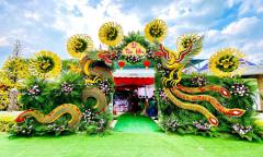 Cổng cưới long phụng 'siêu to khổng lồ' ở Vĩnh Long