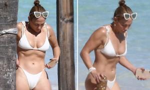 J.Lo bị chụp lén vẫn lộ body đẹp như tạc