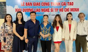Trịnh Kim Chi cùng gia đình Lý Hùng tu sửa Viện dưỡng lão nghệ sĩ