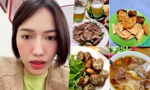 Diệu Nhi làm foodtour Hà Nội 'trêu tức' Kiều Minh Tuấn