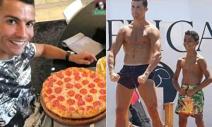 C. Ronaldo tuần nào cũng ăn pizza