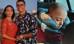 C. Ronaldo và bạn gái quyên tiền giúp cậu bé ung thư