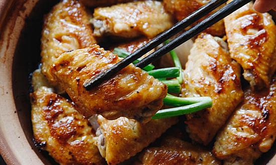 Cánh gà om dầu hào