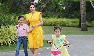Thanh Thảo đón Tết cùng hai con