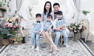 Cuộc sống bỉm sữa của Hoa hậu 3 con 'trứng gà trứng vịt'
