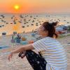 H'Hen say tàu khi du lịch đảo Phú Quý