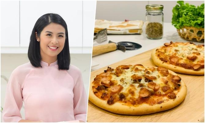Công thức làm pizza dễ mà chuẩn của hoa hậu Ngọc Hân