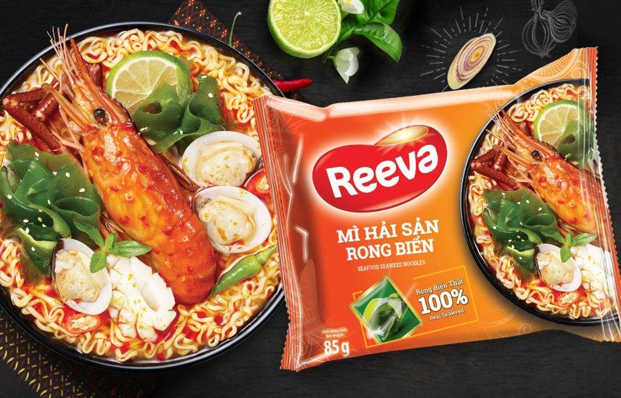 Mì Reeva cao cấp với nấm và rong biển giải ngấy hậu Tết