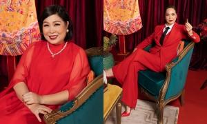 Hồng Vân, Lê Khanh nghẹn ngào xem 'Gái già lắm chiêu V'