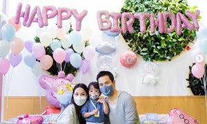 Vợ chồng Trịnh Gia Dĩnh mừng con trai 2 tuổi