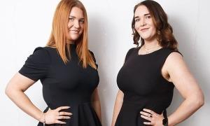 Cặp sinh đôi cùng nhau giảm hơn 100 kg