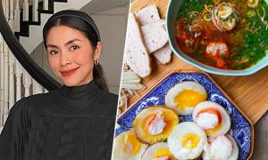 Hai bữa ăn ngày nghỉ của Hà Tăng nấu cho cả nhà