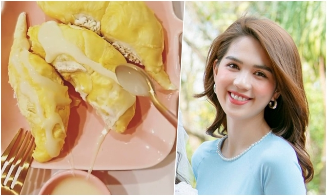Ngọc Trinh nghiện ăn sầu riêng rưới sữa đặc