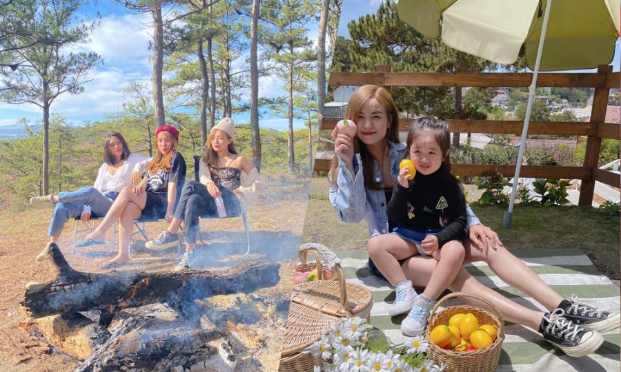 Vợ cũ Hoài Lâm đưa con gái đi cắm trại ở Đà Lạt
