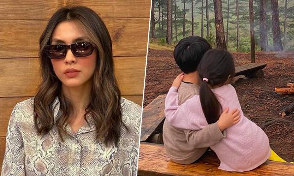 Tăng Thanh Hà đưa hai con đi cắm trại trong rừng Lâm Đồng