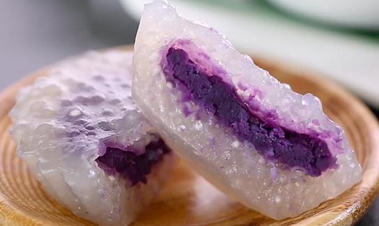 Bánh khoai lang tím hạt sago
