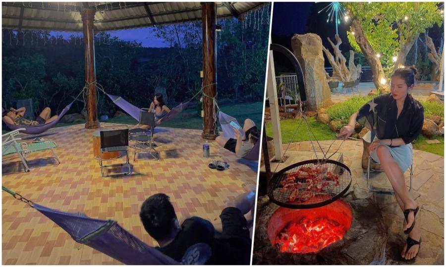 Villa nơi Kỳ Duyên, Minh Triệu trốn phố lên núi nướng thịt