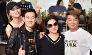 Dương Triệu Vũ tập nhạc với Hà Hồ, Như Quỳnh