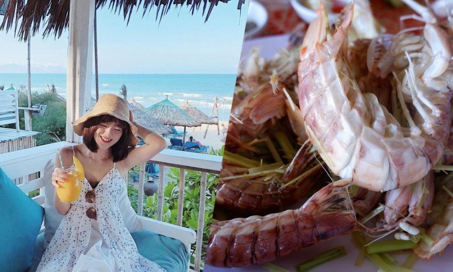 Hè về ăn hải sản, 'chill' ở  biển Hội An