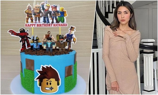 Bánh kem mô hình game online Hà Tăng làm tặng con trai