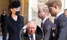 Harry nói chuyện với Charles, William và Kate ở Frogmore Cottage