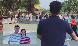 Phillip Nguyễn đạp xe đèo Linh Rin dạo phố cổ