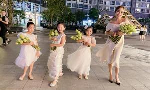 Ảnh sao 30/4: Con gái Mai Phương xinh tươi bên Ốc Thanh Vân