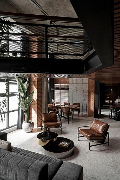 Penthouse industrial 180 m2 của anh chàng độc thân