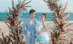 Chồng bất ngờ làm lễ cưới Joyce Phạm trên biển