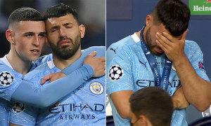 Aguero nức nở sau chung kết Champions League