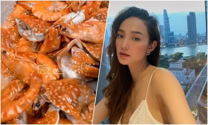 Chảo hải sản đầy ắp tôm ghẹ của Minh Hằng