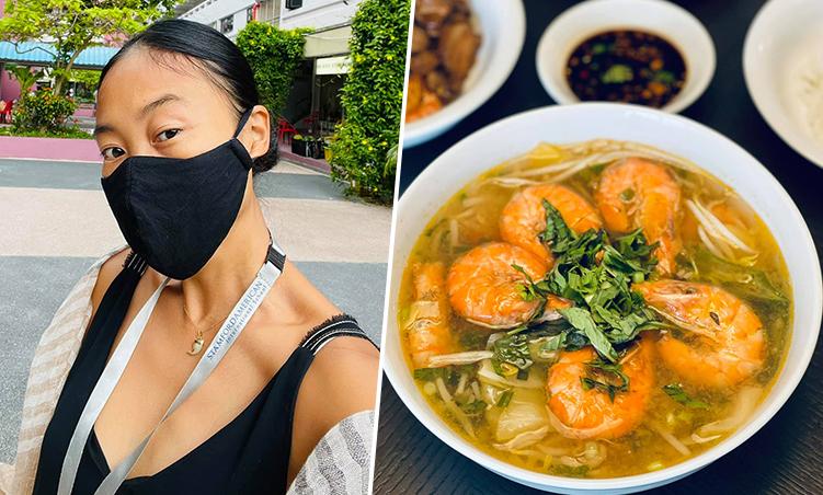 Đoan Trang được fan giảm nửa giá khi đi chợ ở Singapore