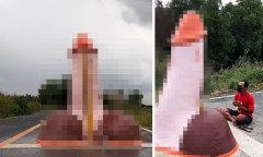 Dân làng Thái Lan thờ tượng 'của quý' để cầu mưa